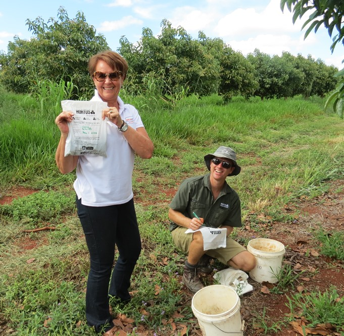 DELTA's Dianne Panov with R&D agronomist Jamie Zapp at the project site.