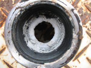 calcium scale, pipe